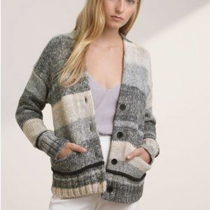 WILFRED Italian Knit Colorblock Cardgan -Size XXS